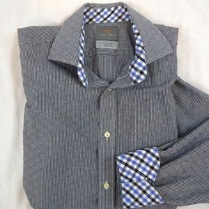 Thomas Dean Long Sleeve Tailored Fit Size M Shirt